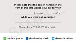 Sample Card - Building Inspector