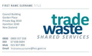 Sample Card Trade Waste